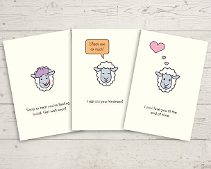 Printable Sheep Card Set