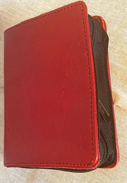 Deluxe style cherry leather slip-on for pocket NWT