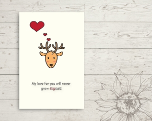 Printable Deer Love You Card
