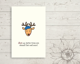 Printable Deer Get Well Card