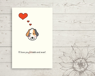 Printable Dog Love You Card