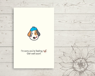 Printable Dog Get Well Card