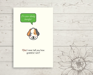 Printable Dog Thank You Card