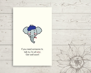 Printable Elephant Get Well Card