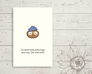 Printable Owl Get Well Card